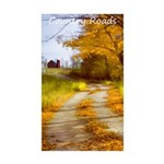 Country Road with Barn Sticker (Rectangle 10 pk)