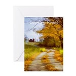 Country Road with Barn Greeting Card