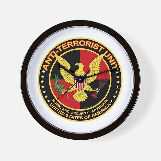 Anti Terrorist Unit RED Wall Clock