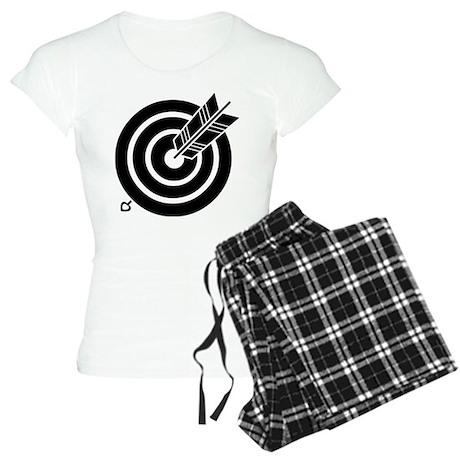 Arrow hit a round target Women's Light Pajamas