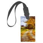 Country Road with Barn Large Luggage Tag