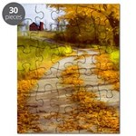 Country Road with Barn Puzzle