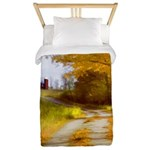 Country Road with Barn Twin Duvet Cover