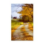 Country Road with Barn Rectangle Car Magnet