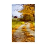 Country Road with Barn Sticker (Rectangle)