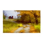 Country Road with Barn Area Rug