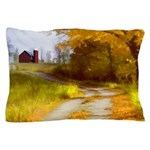 Country Road with Barn Pillow Case