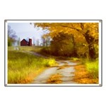 Country Road with Barn Banner