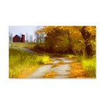 Country Road with Barn 20x12 Wall Decal
