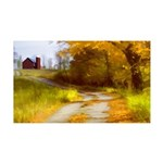 Country Road with Barn 35x21 Wall Decal