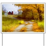 Country Road with Barn Yard Sign