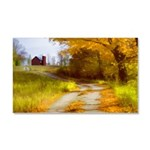 Country Road with Barn Car Magnet 20 x 12