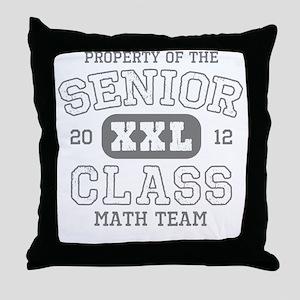 Senior 2012 Math Team Throw Pillow