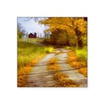 Country Road with Barn Square Sticker 3