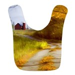 Country Road with Barn Polyester Baby Bib