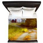 Country Road with Barn King Duvet