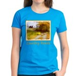 Country Road with Barn Women's Dark T-Shirt