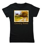 Country Road with Barn Girl's Tee