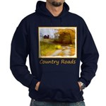 Country Road with Barn Hoodie (dark)