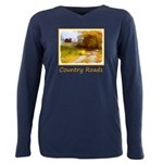 Country Road with Barn Plus Size Long Sleeve Tee