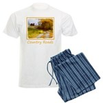 Country Road with Barn Men's Light Pajamas