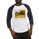Country Road with Barn Baseball Jersey