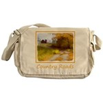 Country Road with Barn Messenger Bag