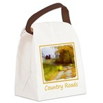 Country Road with Barn Canvas Lunch Bag