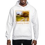 Country Road with Barn Hooded Sweatshirt