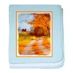 Country Road with Barn baby blanket