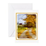 Country Road with Barn Greeting Cards (Pk of 10)