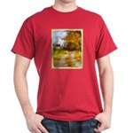 Country Road with Barn Dark T-Shirt