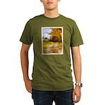 Country Road with Bar Organic Men's T-Shirt (dark)