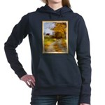 Country Road with Barn Women's Hooded Sweatshirt