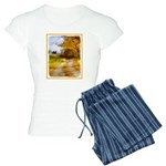 Country Road with Barn Women's Light Pajamas