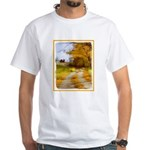 Country Road with Barn White T-Shirt