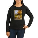 Country Road with Women's Long Sleeve Dark T-Shirt