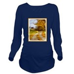 Country Road with Ba Long Sleeve Maternity T-Shirt