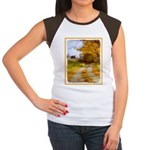 Country Road with Barn Junior's Cap Sleeve T-Shirt
