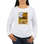 Country Road with Barn Women's Long Sleeve T-Shirt