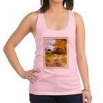 Country Road with Barn Racerback Tank Top