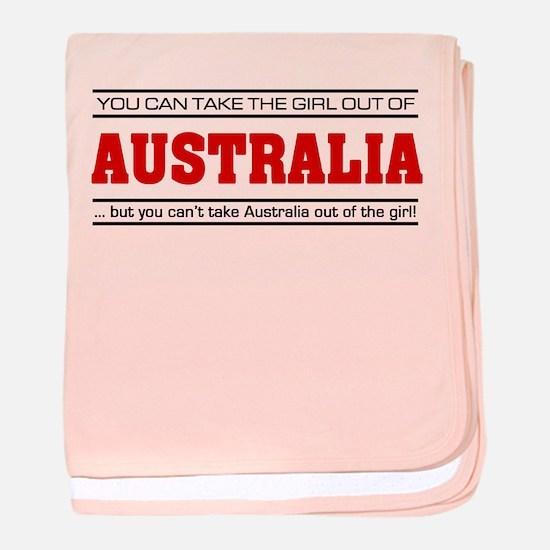 'Girl From Australia' baby blanket