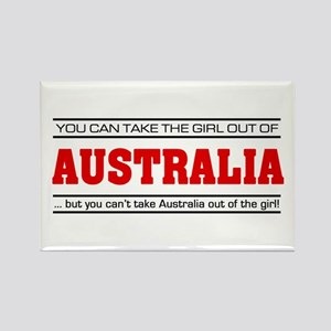 'Girl From Australia' Rectangle Magnet