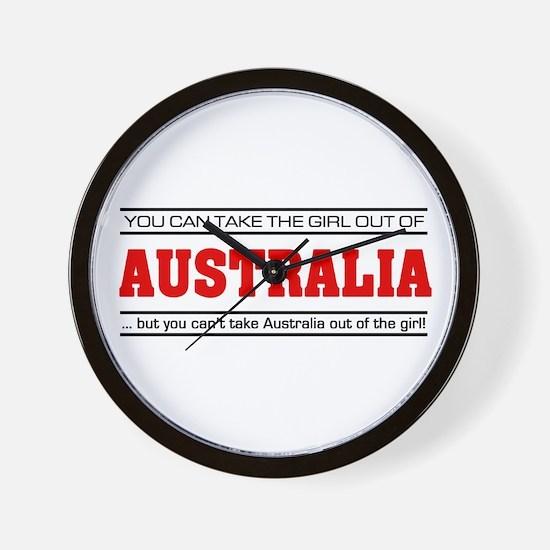 'Girl From Australia' Wall Clock