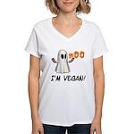 Vegan Ghost Women's V-Neck T-Shirt