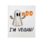 Vegan Ghost Throw Blanket