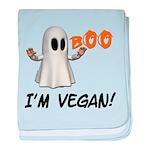Vegan Ghost baby blanket