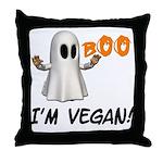 Vegan Ghost Throw Pillow