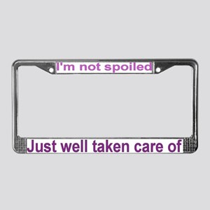 Taken care License Plate Frame