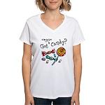 Vegan Halloween Women's V-Neck T-Shirt